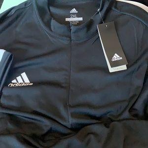 adidas Climacool Short Sleeve 1/4 Zip Shirt 2XL